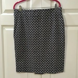 LOFT Tulip Print Pencil Skirt Size 12